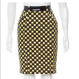 Jeremy Scott Check Print Skirt